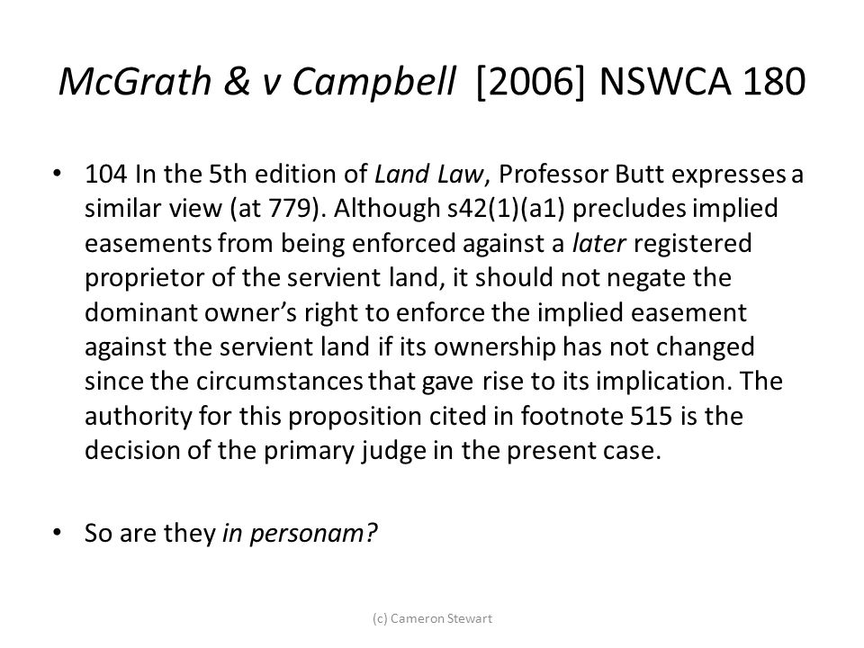 McGrath & v Campbell [2006] NSWCA 180